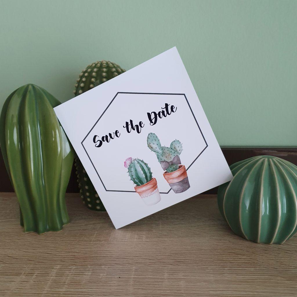 Kaktusbrautpaar